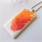 HOT CRUSH - stunning hot pink and orange original resin art pendant necklace