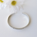 RESINATING WORDS - cuff bangle hand stamped - let your light shine