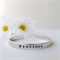 RESINATING WORDS - cuff bangle hand stamped with words that resonate -  #awesome
