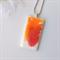 HOT CRUSH - stunning hot pink and orange original resin art pendant necklace