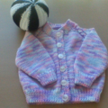 BABY GIRLS BLUSHING BABE ACRYLIC CARDIGAN TO FIT 12 MONTHS.