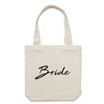 BRIDE Tote Bag in Cream