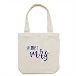 ALMOST MRS Tote Bag in Cream