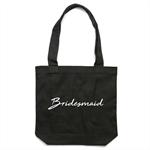 BRIDESMAID Tote Bag in Black