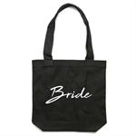 BRIDE Tote Bag in Black