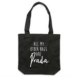 BAGS ARE PRADA Tote Bag in Black