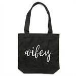 WIFEY Tote Bag in Black