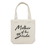 MOTHER OF THE BRIDE Tote Bag in Cream