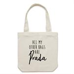 BAGS ARE PRADA Tote Bag in Cream