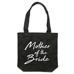 MOTHER OF THE BRIDE Tote Bag in Black