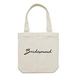 BRIDESMAID Tote Bag in Cream