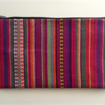 Red striped pencil case
