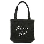 FLOWER GIRL Tote Bag in Black