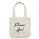 FLOWER GIRL Tote Bag in Cream