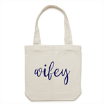 WIFEY Tote Bag in Cream