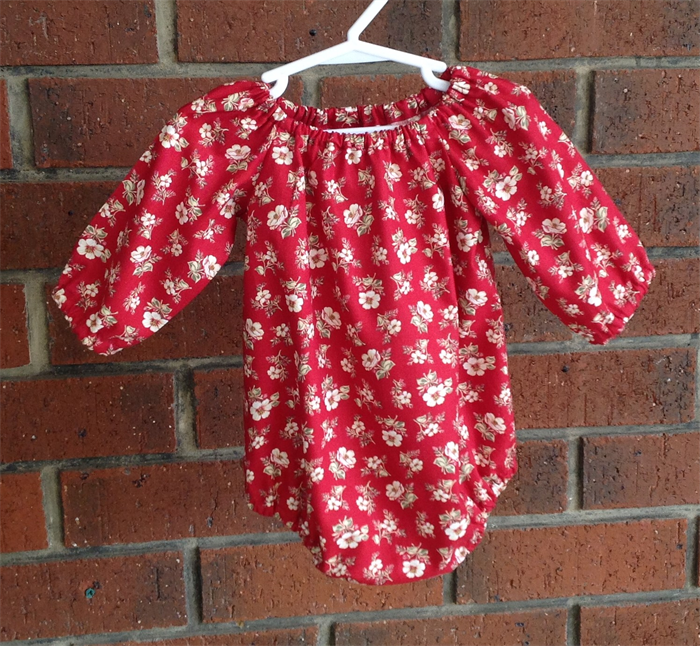 5283d6d886506 Maroon floral romper for baby and toddler girls, NB, 3 6 12 18 mths, 2T |  Two Black Rabbits | madeit.com.au