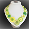Beaut Buttons - Pina Colada  button necklace