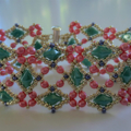 Labyrinth Bracelet in Pink and Turquoise