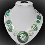 Beaut Buttons - Sea Spray button necklace