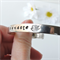 RESINATING WORDS - cuff bangle hand stamped - namaste