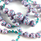 Handcrafted Polymer Clay Long Necklace- pink, aqua, turquoise and lilac