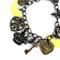 Yellow and Bronze Steampunk Charm Bracelet