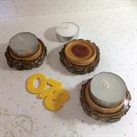 A Trio of Dead Finish Tea Light Holders (Item DF078 a, b & c)