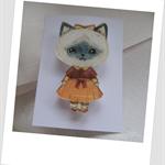 Fiona's Acrylic Cat Brooch