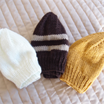 *Special * 3 beanies: Size1-3yrs, Hand knitted Beanie, washable