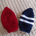 *Special * 2 beanies: Size 6-12mths knitted Beanie; washable