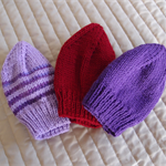 *Special * 3 beanies: Size 6-12mths; washable