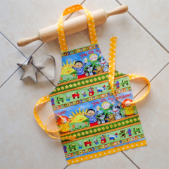 Kids/Toddlers Apron - lined kitchen/craft/play/art apron - Sunshine characters