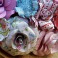 Country florals bouquet of paper flowers