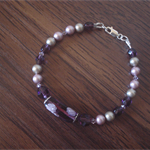 Crystal Pearl & Murano Glass Feature Bracelet