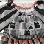 Cat Face Upcycled Toddlers Dress ☆ Size 2 ☆ Handmade ☆ Ready to send ☆