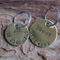 Hand Stamped Personalized Custom Brass Pet Tag - Dog Cat Pet ID 25mm Round