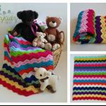 Chevron Rainbow Newborn Hand Crocheted Baby Blanket