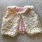 Fleecy white jacket Size 1-2
