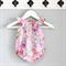 Rainbow Rose pink blush voile Baby Playsuit / Onesie / Romper