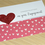 Engagement Congratulations card - hearts