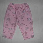 Pink Playful Elephant Girls Flannel Pyjama Bottoms Size 000-3