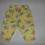 Yellow Playful Elephant Girls Flannel Pyjama Bottoms Size 00-2