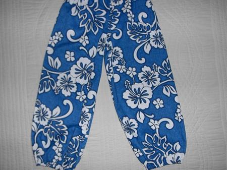 Blue Hawaiian Harem Pants