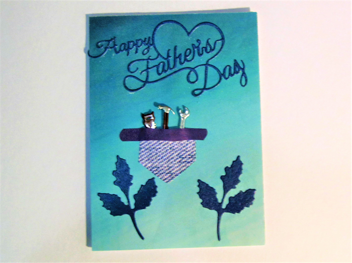 Unique fathers day card with tool belt and mini metal ...
