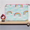 Rainbow Zipped Pouch or Pencil case