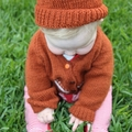 SIZE 3 - Hand knitted jumper in autumn colours: unisex, washable, ooak