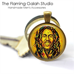 Bob Marley Pendant or Key Ring.  Available in Silver or Bronze