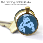 STORM TROUPER POP ART Pendant or Key Ring.  Available in Bronze or Silver