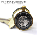 Camera Lens Pendant or Key Ring.  Available in Silver or Bronze
