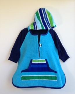Size 2/3 - Boys Beach Towel Long Sleeve Shirt